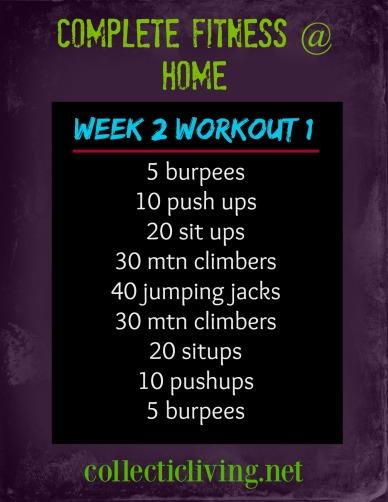 Week 2 Workout 1