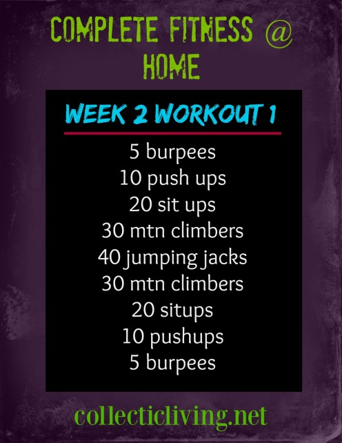 Week 2 Workout 1