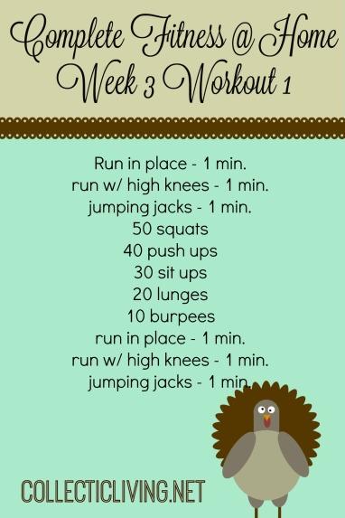Week 3 Workout 1