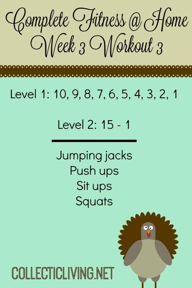Week 3 Workout 3