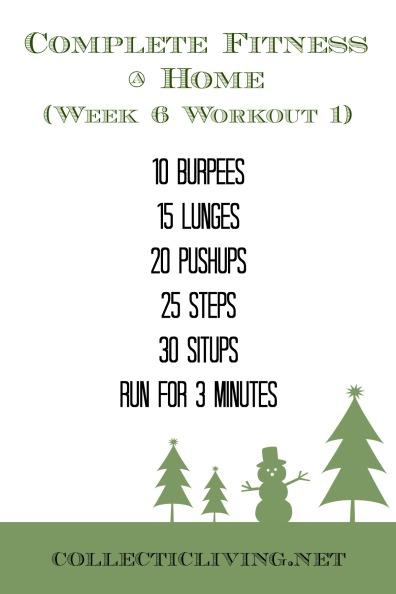 Week 6 Workout 1