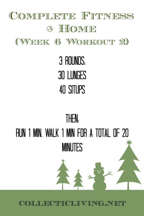 Week 6 Workout 2
