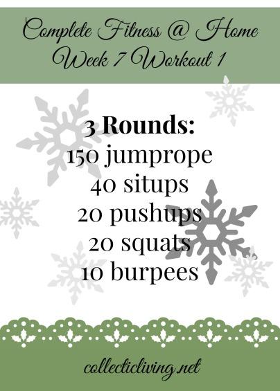 Week 7 Workout 1
