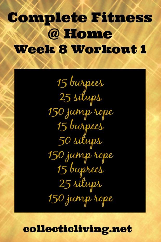 Week 8 Workout 1